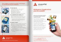 depliant plaquette avantic software application mobile